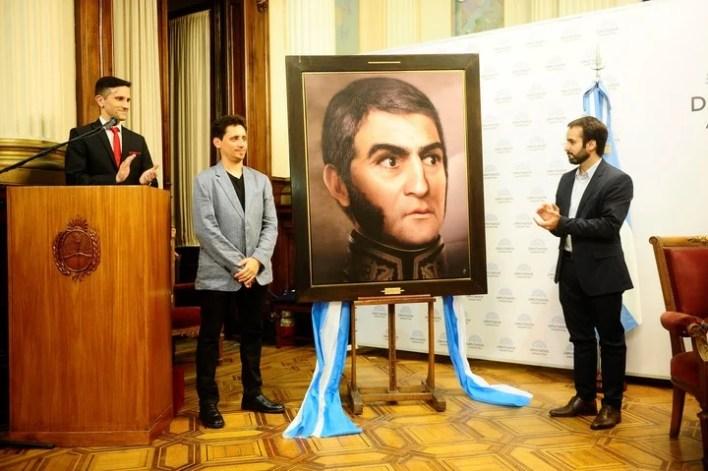 El lunes, en la Cámara de Diputados de la Nación, le dieron un reconocimiento a Ramiro Ghigliazza por su obra, que será instalada también en el Salón de Conferencias Delia Parodi del Congreso.