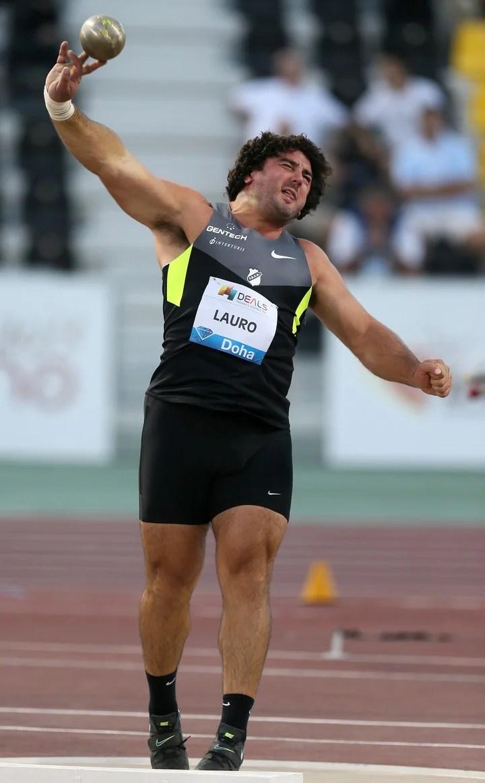 Récord sudamericano. Es el que logró en la Liga de Diamante, en Doha, en 2013. Foto: AFP