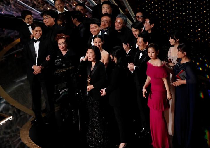 Los artistas coreanos, de fiesta. (Reuters).