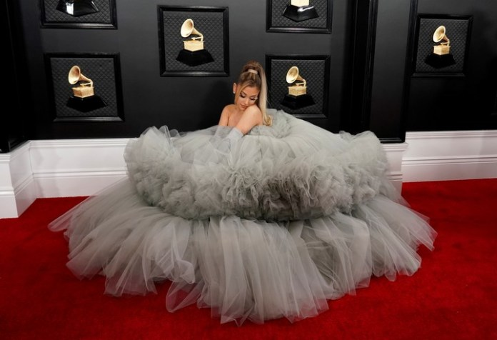 Ariana Grande at the Grammy 2020 in Los Angeles. (Photo: Reuters/Mike Blake).