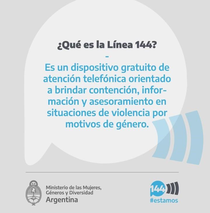 Campaña para reforzar la línea 144 de atención a la violencia de género.