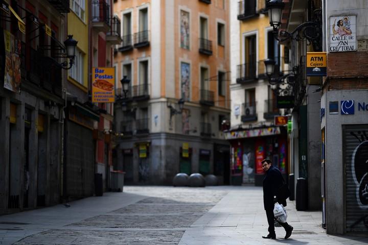 Calles desiertas en Madrid. / AFP