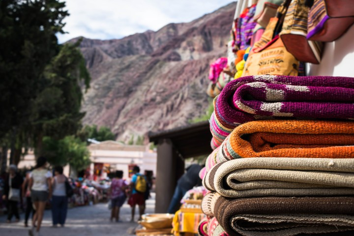Crafts in Purmamarca, Jujuy.  Photo Shutterstock