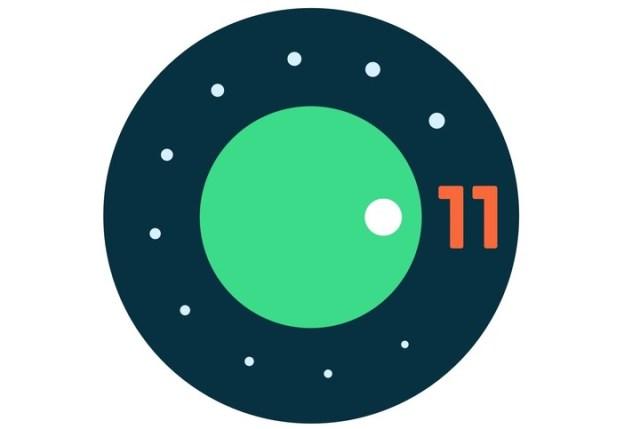 El logo de Android 11.
