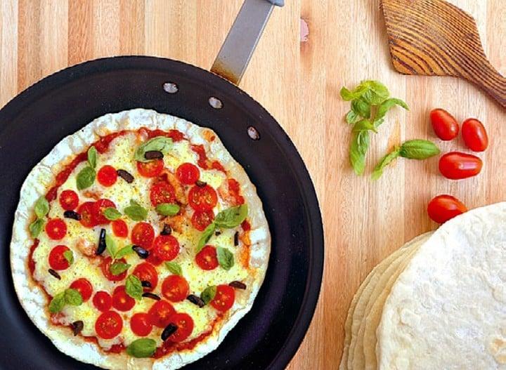 Receta de pizza a la sartén