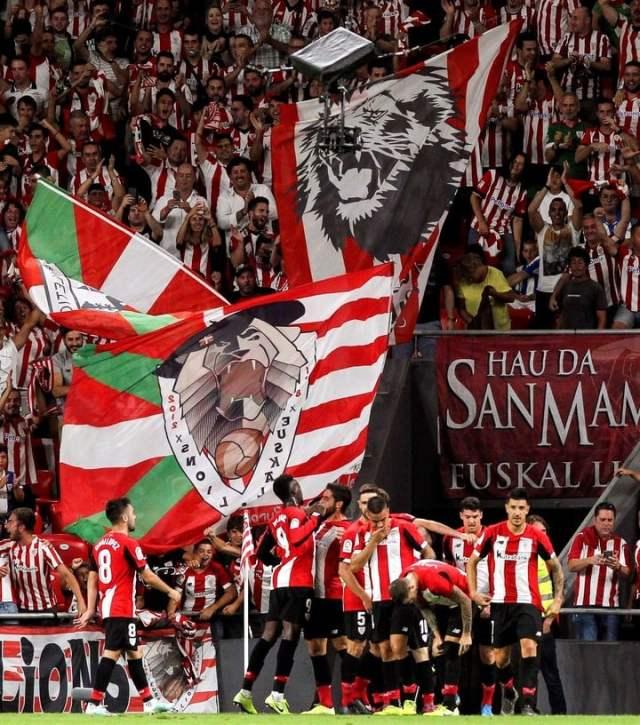 La idea de los clubes vascos es jugar con las hinchadas, (Foto:EFE):