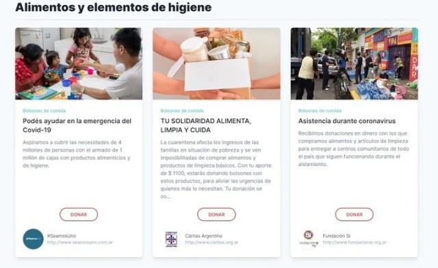 La plataforma Argentinaenaccion.org reúne más de 70 organizaciones sociales que trabajan en la emergencia para fortalecer o abastecer el sistema de salud.