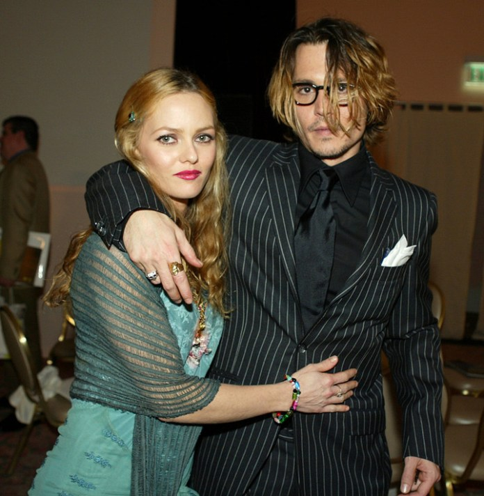 Johnny Depp and Vanessa Paradis when they were together.