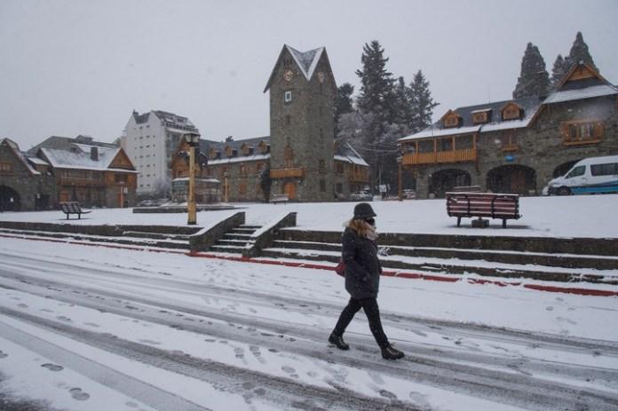 Temporal de nieve en Rio Negro. Bariloche. / Gentileza Diario Río Negro