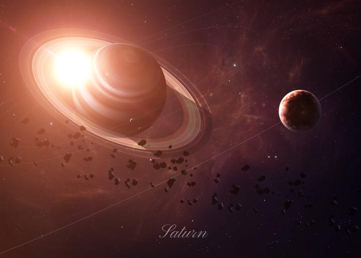 Saturno está retrógrado todos los años por un poco menos de cinco meses. Foto: Shutterstock.
