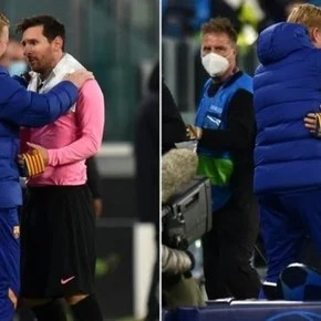 Lionel Messi and Ronald Koeman: the hug of the Barcelona and the whisper of an aloud message