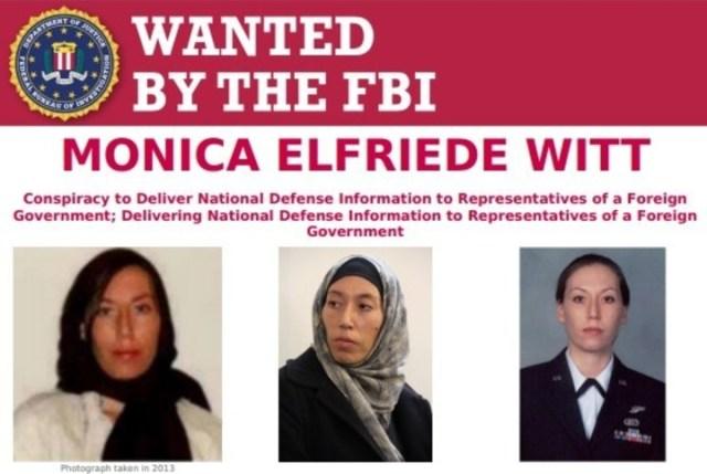 Monica Witt: se la acusa de contrainteligencia por ayudar a hackers iraníes. Fuente FBI