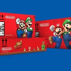 Why is Amazon now shipping online purchases in Super Mario Bros bundles?