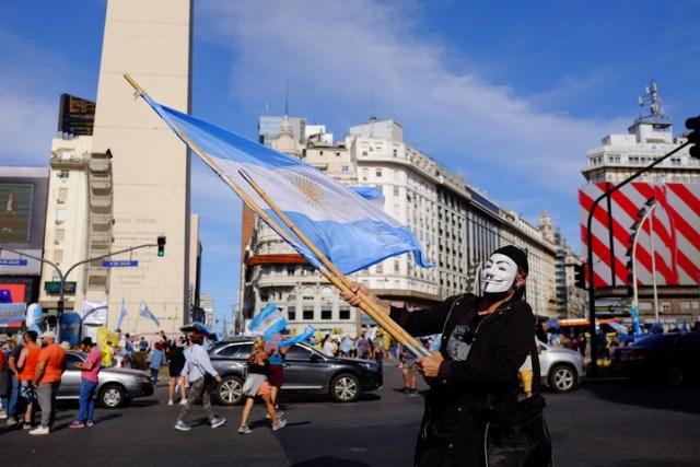 Marcha contra el gobierno y contra el último fallo de la Corte. Foto de archivo: Germán García Adrasti.