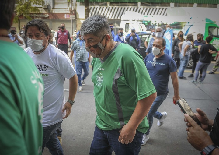 Pablo Moyano en una marcha. Foto Federico López.
