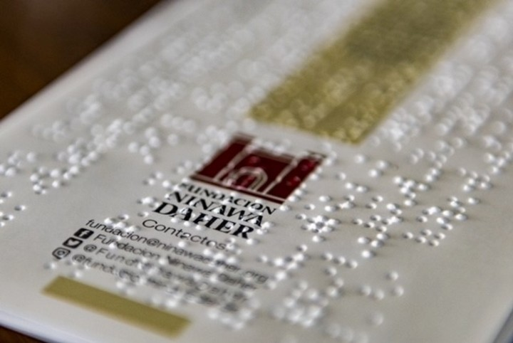 Information in Braille from the Ninawa Daher Foundation