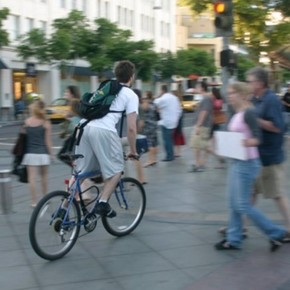 Be a pedestrian, run into a cyclist, and not die trying