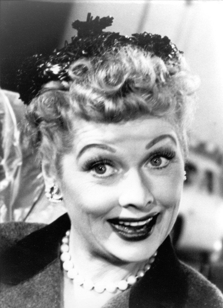 Lucille Ball, in full swing of the sitcom, in the mid-1950s.  Photo Clarín Archive