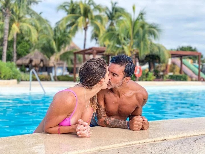 Mica Viciconte and Fabián Cubero, vacation in Mexico.