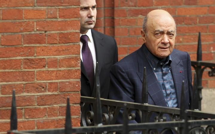 Al Fayed se presentó varias veces en los tribunales londinenses para dar su teoría. (AP)