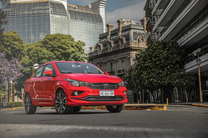 Fiat Cronos.  The number one selling model in Argentina.