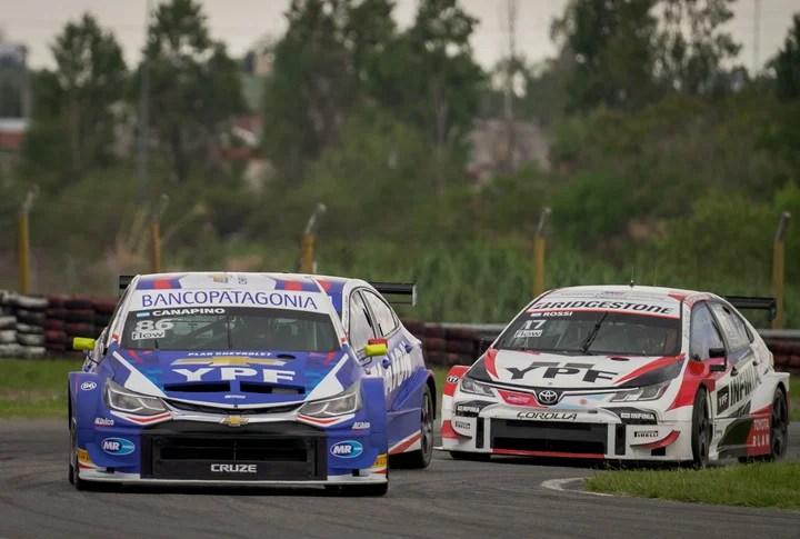 Agustín Canapino y Matías Rossi, los dos punteros del campeonato de Súper TC2000. Foto: Rafael Mario Quinteros