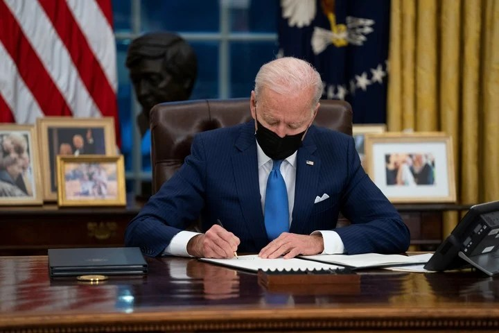 Biden signed the executive order in the middle of the year.  AP Photo