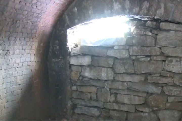 The tunnel would have been built around 1940, some 50 years before the house.  (The Alton Telegraph)