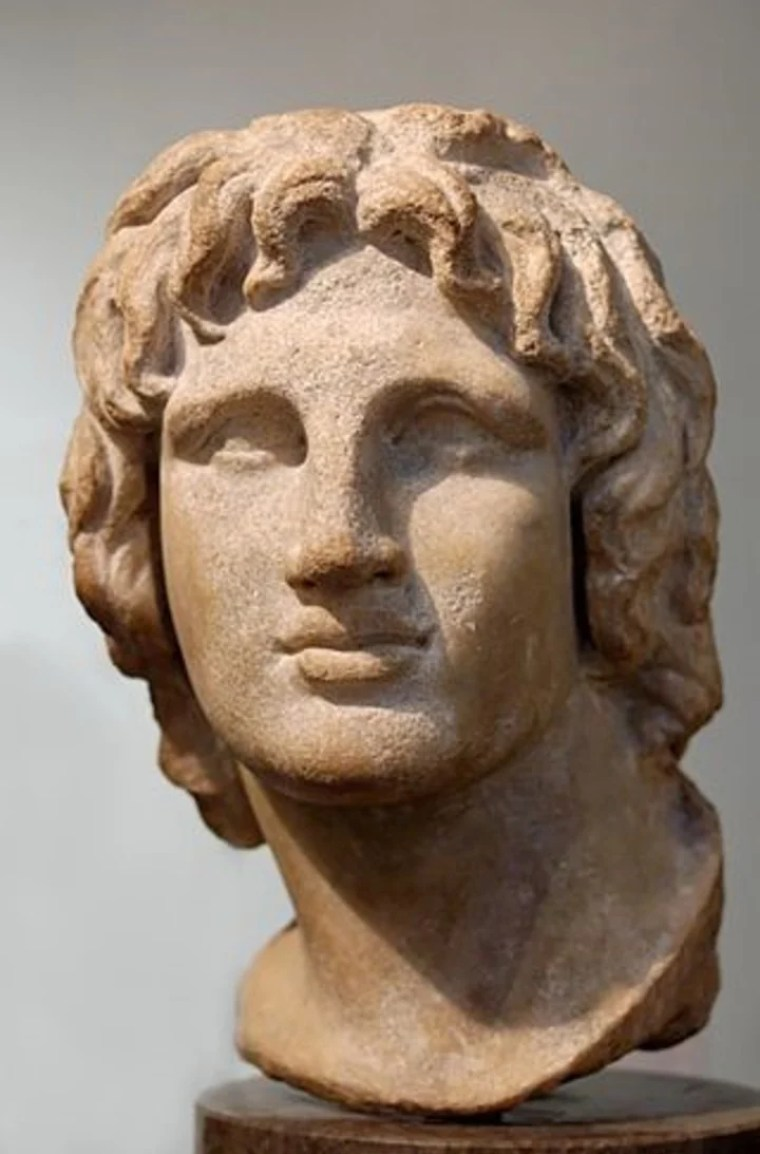 Busto de mármol de Alejandro Magno, siglo II a.C.  C. Foto: Wikipedia
