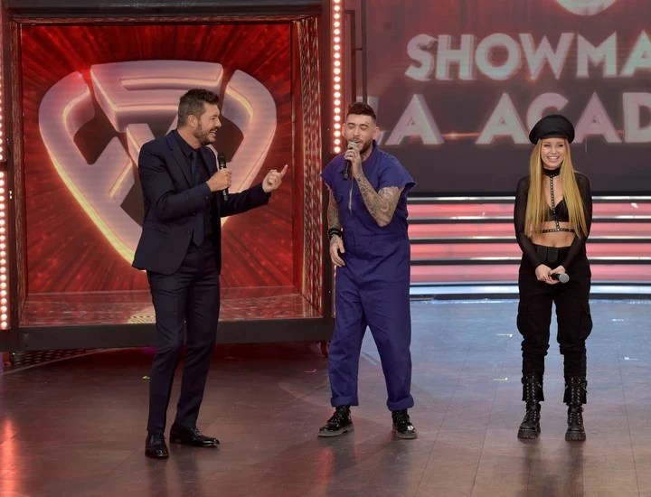 """Marcelo Tinelli, together with Ulises Bueno and Rocío Pardo, in """"The academy""""by ShowMatch.  Photo LaFlia / Julio Ruiz."""