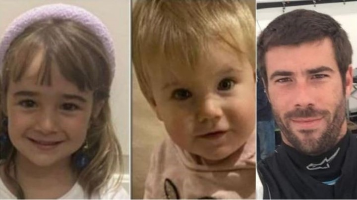 Olivia, first from left, was found dead at sea.  Now they are still looking for her sister Anna and her father.  Tomás Gimeno, murderer of both.