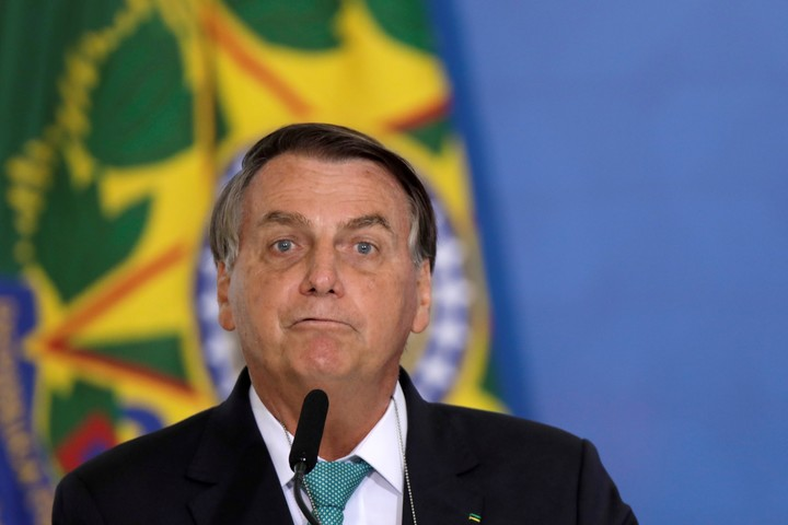 The president of Brazil, Jair Bolsonaro, minimizes the risks of the coronavirus.  Photo: REUTERS