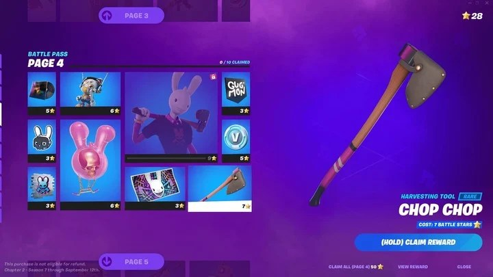 The Season 7 Battle Pass leaves the levels for the pages.  Each reward will be obtained in exchange for stars.
