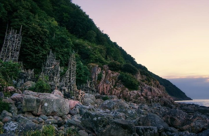 The wooden towers of the Independent Nation of Ladonia.  Photo: Web
