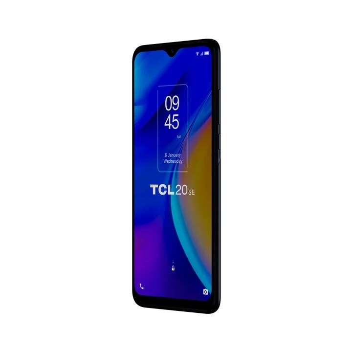 """TCL 20SE.  Screen 6.82"""" HD + V-NOTCH DISPLAY, Snapdragon 460 chip. Four main cameras: 16MP f / 1.8, 5MP f / 2.2 super wide angle, macro: 2 MP f / 2.4 and 2 MP f / 2.4 bokeh.  Price: $ 37,999."""