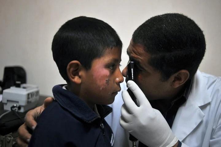 Cuban doctors in Guatemala.  Photo: AFP