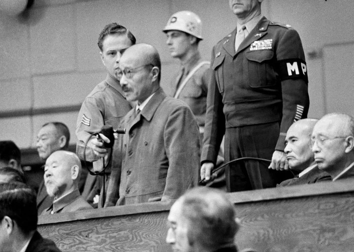 Tojo and six other Japanese were hanged.  Photo: AP