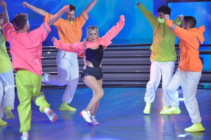 Karina The Little Princess danced shuffle at ShowMatch's La Academia.  Photo LaFlia / Julio Ruiz.