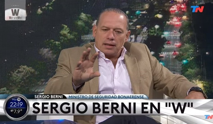 Sergio Berni repeatedly requested the use of Taser guns.
