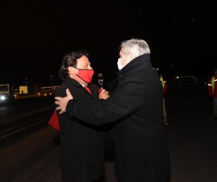 Governor Gustavo Sáenz and President Alberto Fernández.