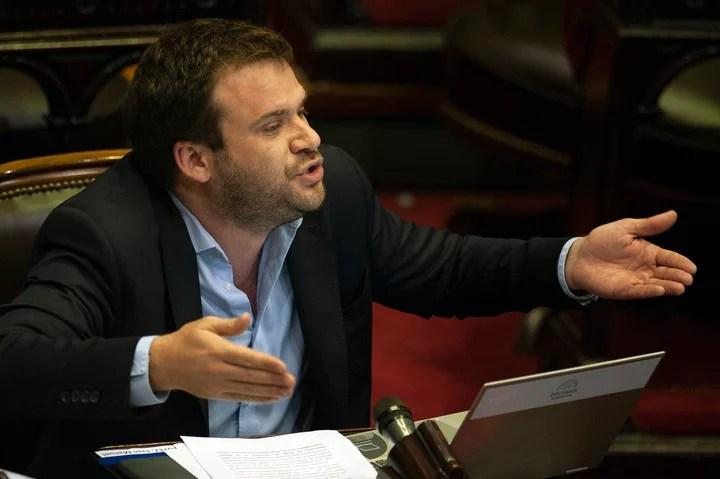Deputy Juan López, president of the Civic Coalition bloc.  Photo Rolando Andrade Stracuzzi.