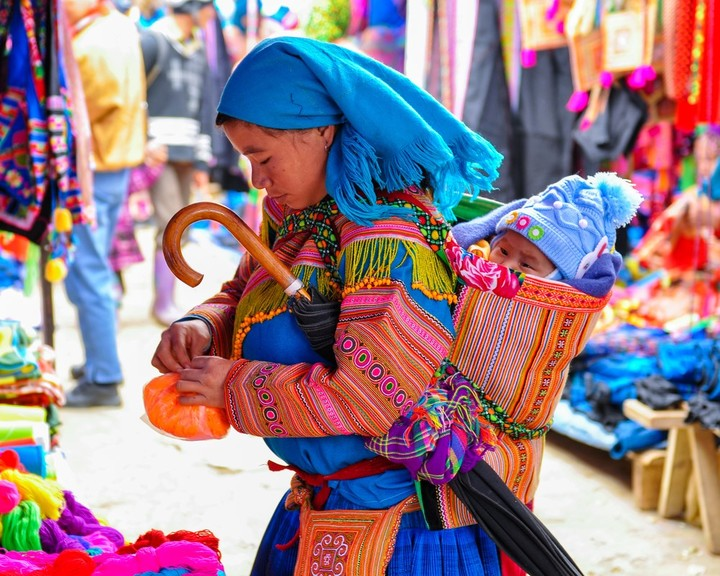 An unmissable market in the Vietnamese Bac Ha. Photo Shutterstock.
