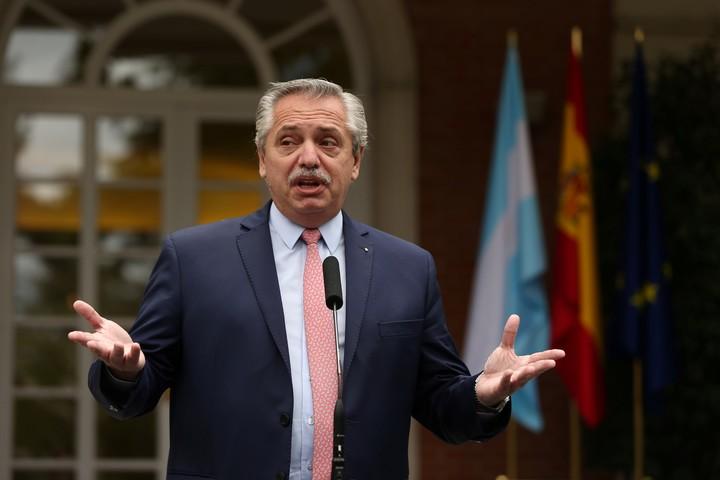 The President of the Argentine Republic, Alberto Fernández.  Photo Europa Press