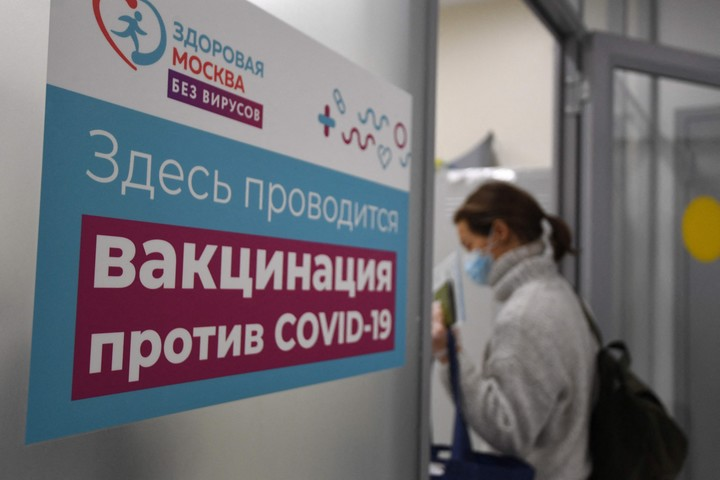 """I do not support mandatory vaccination""Putin said.  Photo: AFP."