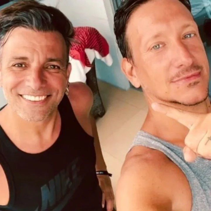 Martín Bossi and Nico Vázquez in Miami hours before the collapse.  Photo: Instagram
