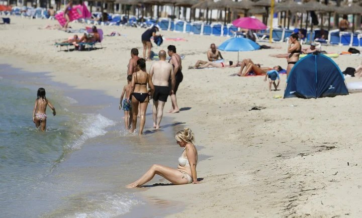 The beaches of Mallorca, among the most visited this European summer.  Photo: REUTERS