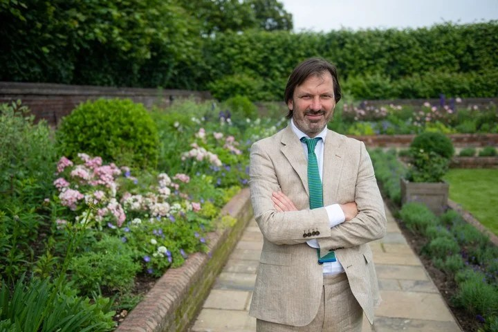 Pip Morrison, the designer of the garden to honor Diana.  Photo: AFP