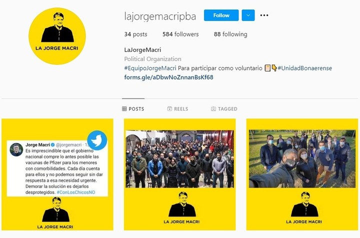 Jorge Macri is a political organization launched on the networks that summons volunteers to fight for a candidacy of the mayor for Governor in 2023.