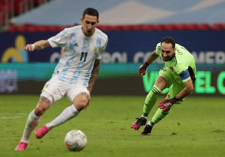 Angel Di María shone in the last matches of the National Team in Brazil.  Photo REUTERS / Henry Romero
