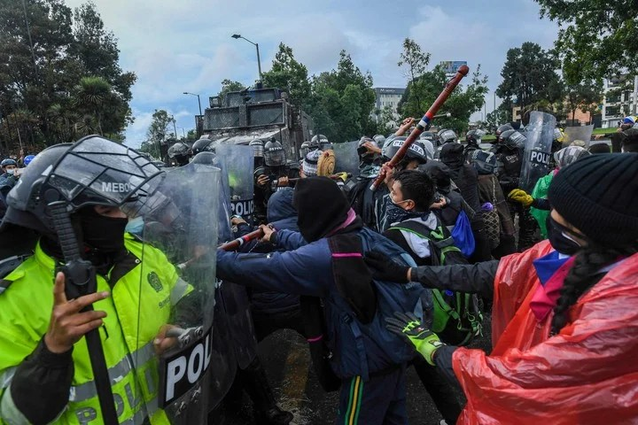 Protests against a tax reform in Colombia led to harsh incidents for more than a month.  Photo: AFP